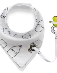 0-12M-Baby-Triangle-Cotton-Bibs-with-Pacifier-clip-double-layer-toddler-infant-boy-girl-bib